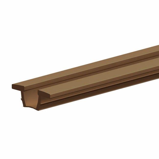 Ogromny Prowadnica plastikowa do szaf Valcomp 2500 mm brązowa - Prowadnice GL27