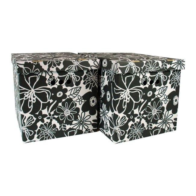 Pudła Malwa Xl Czarne 2 Szt Kartony Dekoracyjne