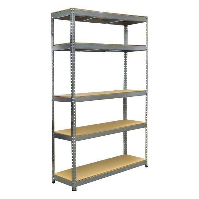 rega metalowy stabil 120 x 40 x 180 cm ocynkowany rega y metalowe wolnostoj ce rega y. Black Bedroom Furniture Sets. Home Design Ideas