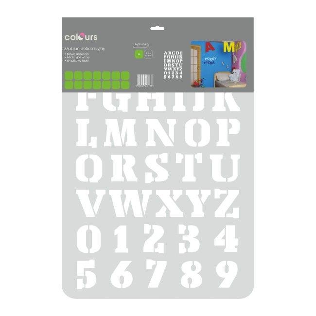 Szablon Colours Xxl Alphabet 28 Szablony Narzedzia Malarskie