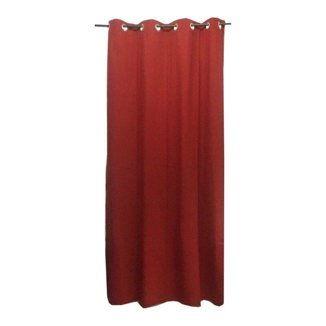 Zasłona Colours Zen 140 x 260 cm czerwona