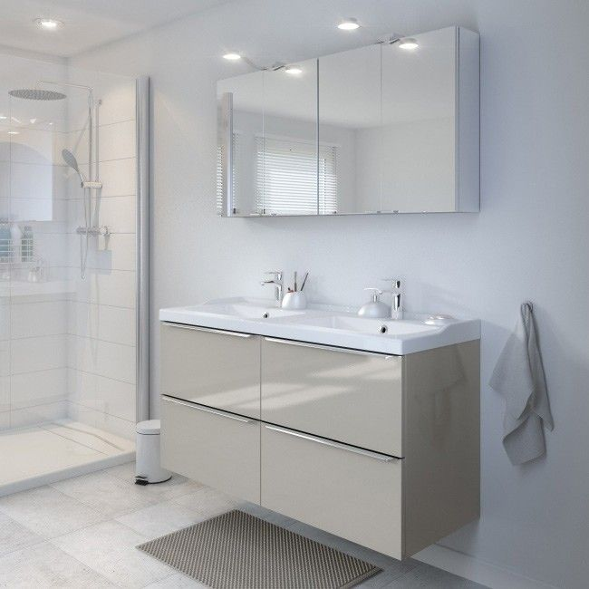 zestaw mebli azienkowych cooke lewis imandra 120 cm taupe. Black Bedroom Furniture Sets. Home Design Ideas