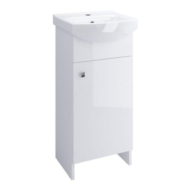 Zestaw Szafka Z Umywalką Cersanit Sati 40 Cm Biały