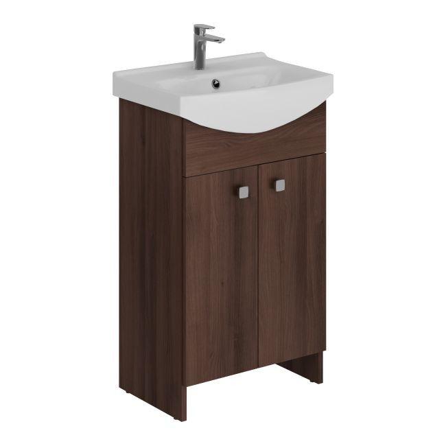 zestaw szafka z umywalk� cersanit sati 50 cm br�zowy pod