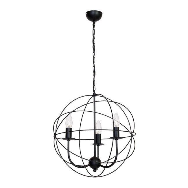 żyrandol Luminex Globe 3 3 X E14 60 W Black