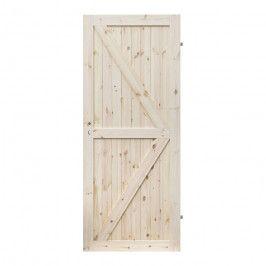 Drzwi pełne Barn 90 prawe sosna sęczna kształt K