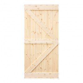 Drzwi pełne przesuwne Loft 95 sosna sęczna kształt K
