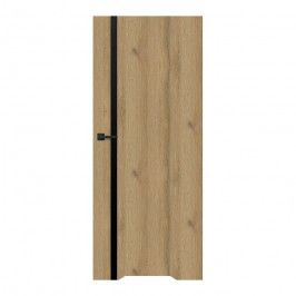 Drzwi z podcięciem Exmoor 80 prawe dąb grandson czarna linia