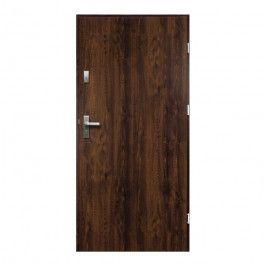 Drzwi zewnętrzne / wewnątrzklatkowe pełne O.K. Doors Artemida P55 80 prawe orzech