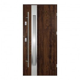 Drzwi zewnętrzne O.K. Doors Arctica 90 prawe orzech z antabą/pochwytem
