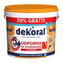 Farba Dekoral Akrylit W śnieżnobiała 10 l + 20%