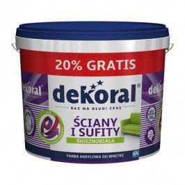 Farba Dekoral Ściany i Sufity 10 l + 20% gratis