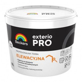 Farba elewacyjna Beckers Exterio Pro biała 10 l