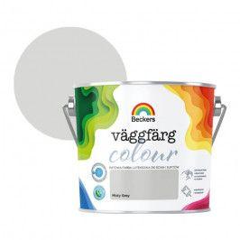 Farba lateksowa Beckers Vaggfarg Colour misty grey 2,5 l