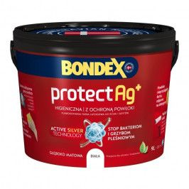 Farba lateksowa Bondex Protect Ag+ biała 9 l