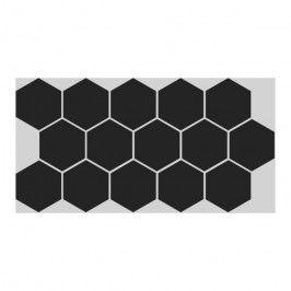 Gres Hex 26,5 x 51 cm czarny 0,95 m2