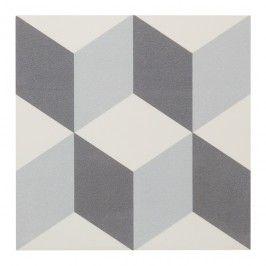 Gres Hydrolic Design 2 Colours 20 x 20 cm b&w 3D 1 m2