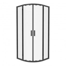 Kabina prysznicowa półokrągła GoodHome Beloya 90 cm czarna / transparentna
