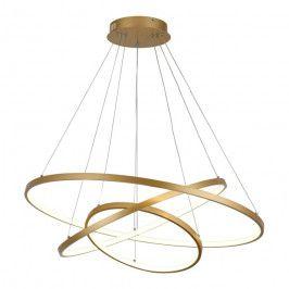 Lampa wisząca Cataleya 1 x 58 W złota matowa