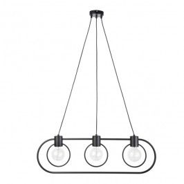 Lampa wisząca Fredo koło 3 x 60 W E27 czarna