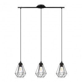 Lampa wisząca GoodHome Smertrio 3-punktowa E27 czarna