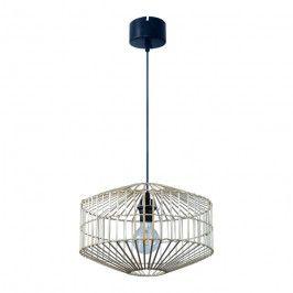 Lampa wisząca GoodHome Wutai 1 x 40 W E27 38 cm jasny bambus