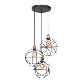 Lampa wisząca Luminex Gerid 3 x 60 W E27 czarna