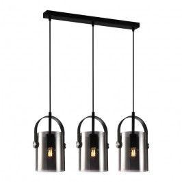 Lampa wisząca Nanesma 3 x 40 W E27 czarna/brązowa