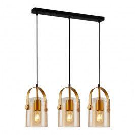 Lampa wisząca Nanesma 3 x 40 W E27 złota/amber