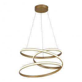 Lampa wisząca Rollercoaster 1 x 50 W złota matowa