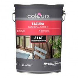 Lazura ochronna do drewna Colours 8 lat teak 5 l