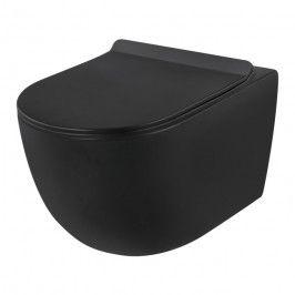 Miska WC wisząca Rivera bezkołnierzowa czarna