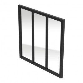 Okno GoodHome Alara 100 x 100 cm czarne industrialne