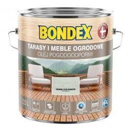 Olej do drewna Bondex Pogodoodporny srebrno-szary modrzew 2,5 l