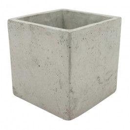 Osłonka doniczki kwadratowa 16 cm szary beton