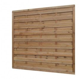Płot drewniany Blooma 180 x 180 cm brązowy rama 40 x 60 mm