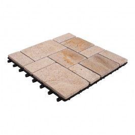 Podest kamienny DLH 30 x 30 cm beżowy