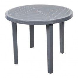 Stół Opal Okrągły Fi 90 Cm Szary