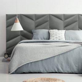 Zestaw paneli ściennych tapicerowanych Stegu Mollis zagłówek do łóżka 1,8 m ciemny szary