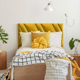 Zestaw paneli ściennych tapicerowanych Stegu Mollis zagłówek do łóżka żółty