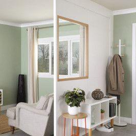 Zestaw ścianka modułowa GoodHome Alara do malowania z oknem przezroczystym
