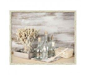 Obraz Butelki i zboże 40 x 50 cm