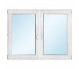 Okno PCV rozwierne + rozwierno - uchylne 1465 x 1135 mm symetryczne
