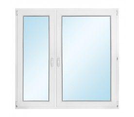 Okno PCV rozwierno - uchylne + rozwierne 1465 x 1435 mm lewe
