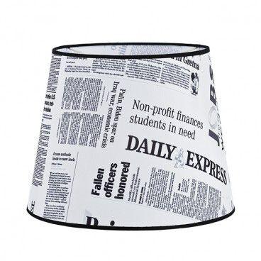 Abażur do lampy z gwintem E27 gazeta
