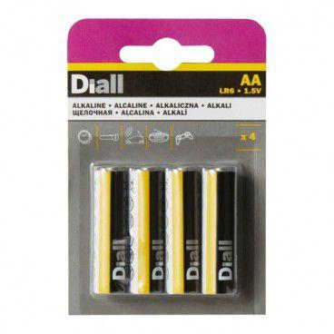 Baterie alkaliczne Diall AA 4 szt.