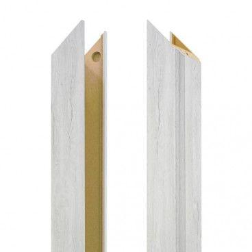 Baza ościeżnicy regulowana 115-135 mm prawa do drzwi bezprzylgowych dąb silver