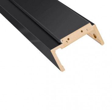 Belka ościeżnicy regulowana 80-95 mm 80 do drzwi bezprzylgowych czarny mat