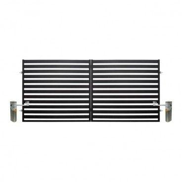 Brama dwuskrzydłowa Polbram Steel Group Lara automatyczna 3,5 x 1,54 m czarna