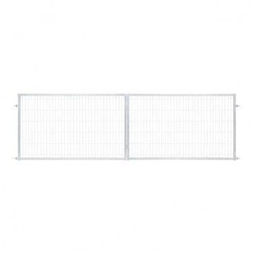 Brama panelowa Polbram Steel Group 2D 400 x 120 cm oczko 5 x 20 cm ocynk